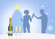 Man and woman are toasting to the new year Royalty Free Stock Photos