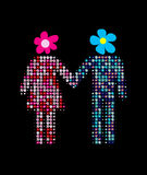 Man and woman together Royalty Free Stock Images