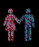 Man and woman together Stock Image