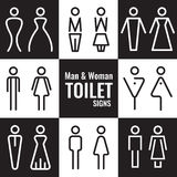 Man and Woman Toilet line sign vector set design Stock Photo