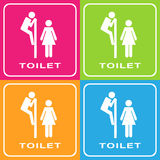 Man and woman toilet sign Royalty Free Stock Images