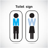 Man and woman toilet sign, restroom symbol . Vector illustration Stock Images