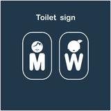 Man and woman toilet sign, restroom symbol Stock Images