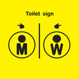 Man and woman toilet sign, restroom symbol. Royalty Free Stock Photography