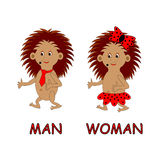 Man and woman toilet sign. Vector-art illustration on a white background Stock Image