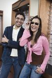 Man And Woman Trying Out Eye Glasses Stock Image