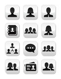 Man woman user  buttons set Royalty Free Stock Photo