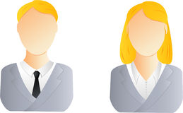 Man and woman user icon Royalty Free Stock Images