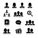 Man woman user  icons set Stock Images