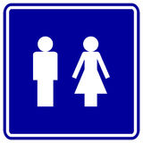 Man and woman vector sign Stock Photography