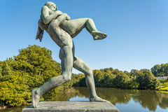 Man and Woman Vigeland Royalty Free Stock Image