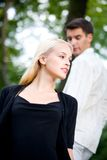 Man and woman walking Royalty Free Stock Photography