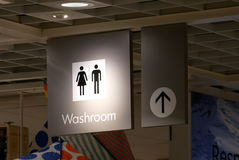 Man and woman washroom logo inside Ikea store Royalty Free Stock Photography
