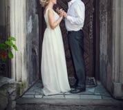 Man woman wedding walk Royalty Free Stock Photography