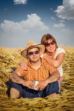 Man and woman in the wheat Royalty Free Stock Images
