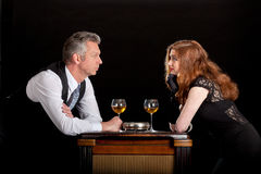 Man woman wine bar royalty free stock photos