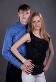 Man and woman. Man and women in photo studio Royalty Free Stock Images