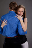 Man and woman. Man and women in photo studio Stock Photography