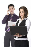 Man and woman at work Royalty Free Stock Images