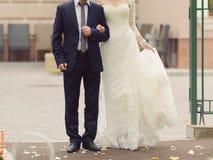 Man and Woman at Yard Royalty Free Stock Image