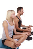 Man and woman yoga Stock Photography