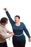 Man and womans waist. Royalty Free Stock Photo