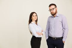 Man and woman business partners Royalty Free Stock Photos