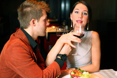 Man and woman drinking wine Royalty Free Stock Photos