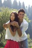 Man and woman hugging Stock Photo