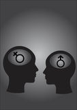 Man and women, Male symbol. Female symbol Stock Image