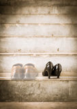 Man and women shoes Royalty Free Stock Photo