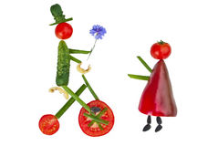 Man and women from vegetable Royalty Free Stock Image