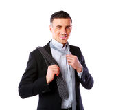 Man wonders which tie Royalty Free Stock Image