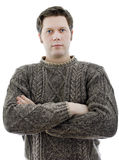 Man in a woolen sweater Royalty Free Stock Images