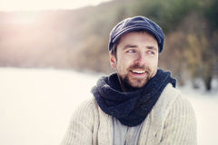 Man in woolen sweater Royalty Free Stock Image