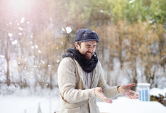Man in woolen sweater Stock Image