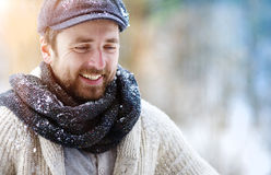 Man in woolen sweater Stock Images