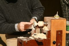 Man at work. A detail of a hand work stock photos