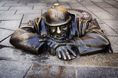 Man at work, Bratislava, Slovakia Royalty Free Stock Image
