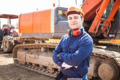 Man at work in a construction site Royalty Free Stock Photos