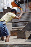 Man at work Dhobhi Ghat Laundry Royalty Free Stock Photography