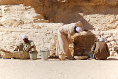 Man work for excavation of tombs Stock Photography