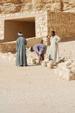 Man work for excavation of tombs Royalty Free Stock Images