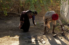 Man at work Kutch, Gujarat, India Royalty Free Stock Image