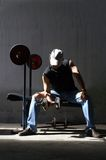 Man work out. A man work out body building Stock Photo