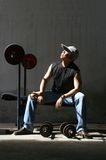 Man work out dream Stock Photography
