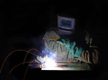 Man at work, welder royalty free stock photography