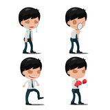 Man Worker Action Emotion Set Vector Royalty Free Stock Photos