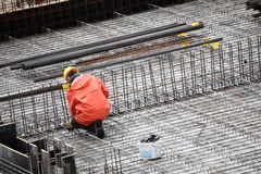 Worker in construction building Stock Images