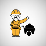 man worker mining design icon Royalty Free Stock Images